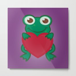 Love Frogs Metal Print