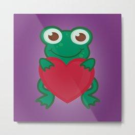 Love Frogs Metal Print