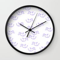 a lot of cats Wall Clocks featuring a lot of cats by jenyoyo