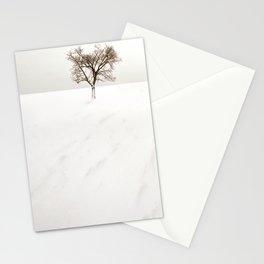frozen lake. Stationery Cards