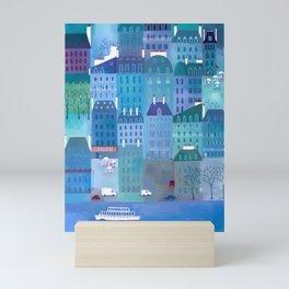 Paris Blues Painting Mini Art Print