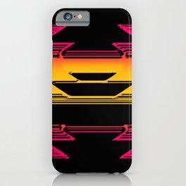Pink geo iPhone Case