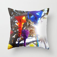 Wind Socks Throw Pillow