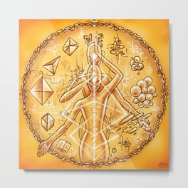 Transmutation Codes Metal Print