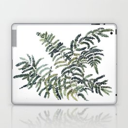 Woodland Fern Botanical Watercolor Illustration Painting Laptop & iPad Skin