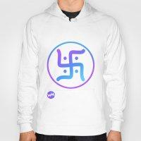 hindu Hoodies featuring Hindu Swastika by Warped Minds Apparel