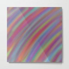 Rainbow Ripple Metal Print