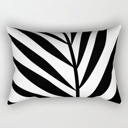 Minimalist Black Leaf Rectangular Pillow