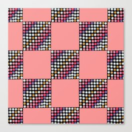 Checker Disco Canvas Print