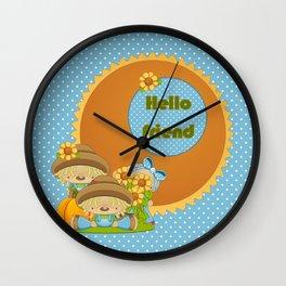 Country Bumpkin Bears Wall Clock