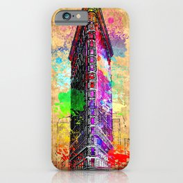 Flatiron Building NYC Grunge iPhone Case