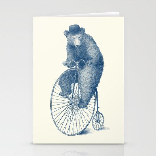 Morning Ride - Blue Option Stationery Cards