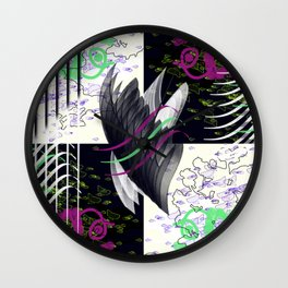 Crows and Eagles Wall Clock