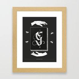 Shadow Alphabet: Grimoire Framed Art Print