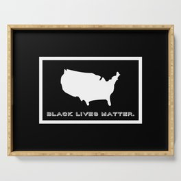 Black Lives Matter America Serving Tray