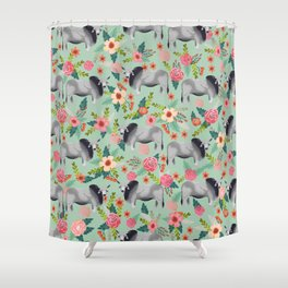 Brahman Cattle cow farm floral homesteader farming cattle breeds Shower Curtain