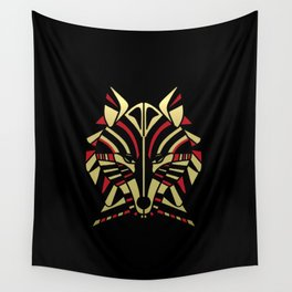Coyote Trickster Tribal Art Totem Wall Tapestry
