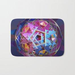 Colorful metallic orb Bath Mat