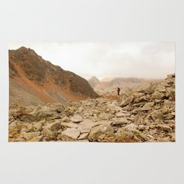 Mountains speak for themselves Rug