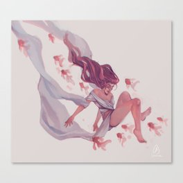 Pink River Canvas Print