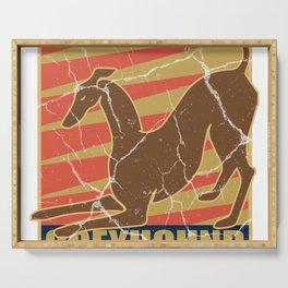 Greyhound dog gift greyhound pet animal Serving Tray