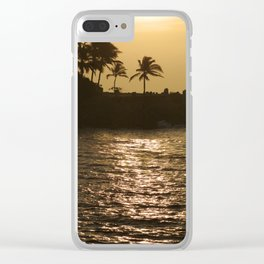 Pacific Palm Trees in the Sunset Clear iPhone Case