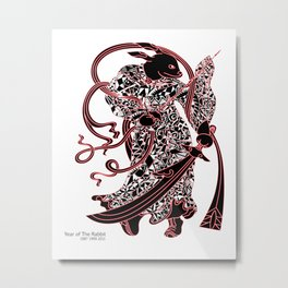 Chinese zodiac sign, Year of the Rabbit Metal Print