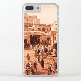 Vintage Babylon photograph Clear iPhone Case