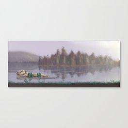 Sleeping Otter Canvas Print