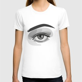 Realistic eye with makeup and photographer reflection T-shirt