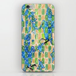 Whimiscal Birds with Polka Dots iPhone Skin