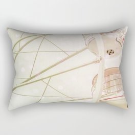 Ferris wheel photography pink bokeh Rectangular Pillow