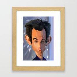 Ben Stiller Caricature Framed Art Print