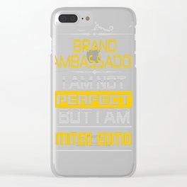 BRAND-AMBASSADOR Clear iPhone Case