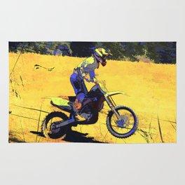 Riding Hard - Moto-x Champion Rug