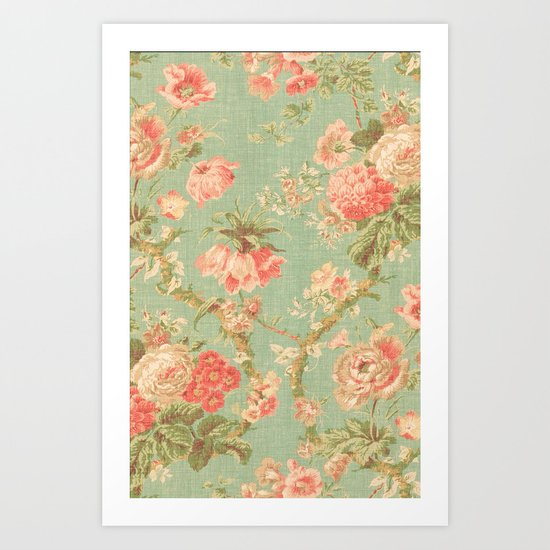 Vintage Flowers - for iphone Art Print
