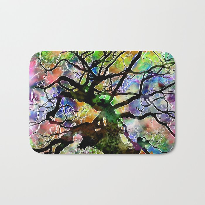 Frosted Tree Bath Mat