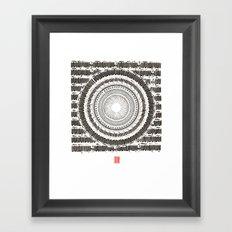 Om mani Padme Hum Framed Art Print
