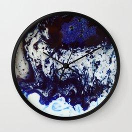 Blue ink Wall Clock