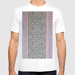 Song to Bring Blessings to a Marriage - Traditional Shipibo Art - Indigenous Ayahuasca Patterns T-shirt