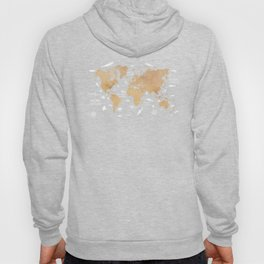 World Map Oceans Life blue #map #world Hoody