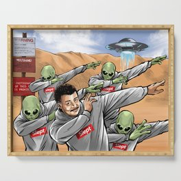 Neil Degrasse Tyson and Friends Serving Tray