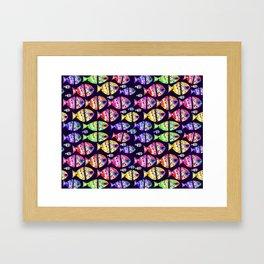 Colorful Fishes Pattern Design Framed Art Print