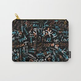 Les Fleurs + Words Overlay Carry-All Pouch