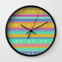 southwest Wall Clocks featuring Southwest Dawn by Rebecca L. Davis