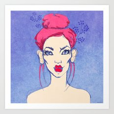 Selfie girl_3 Art Print