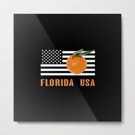 Florida Oranges Metal Print