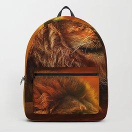 Lion twins | Lion et jumelles Backpack