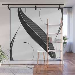 Letter N - Script Lettering Cropped Design Wall Mural