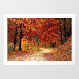 Autumn Landscape 1   Paysage d'Automne 1 Art Print